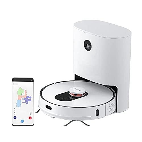 ROIDMI Eve Plus Robot Aspirador con Vaciado automático,Robot Fregar y aspirar,navegación láser LDS, mapeo navegación Inteligente y App,2700PA, Ideal para Pelo de Mascotas y Suelos Duros