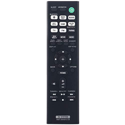 RMT-AA401U Replacement Remote Control fit for Sony Multi Channel AV Receiver STR-DH190 STR-DH590 STR-DH790