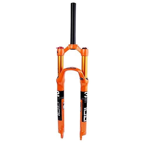 KPTKP Magnesiumlegierung Mountain Fork Gabel, 26/27,5/29 Zoll MTB Fahrradfedergabel für Mountainbike Rennrad MTB,Straight Manual,27.5in
