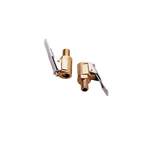 YUEMING 2 Stück Autoventil Hebelstecker Air Chuck, Messing Reifen Ventil Luftpumpe Clip, Auto Ventilstecker Luftpumpe Gewinde Düse Adapter Umwandlungskopf Clip für Reifenventile mit Ventilgewinde