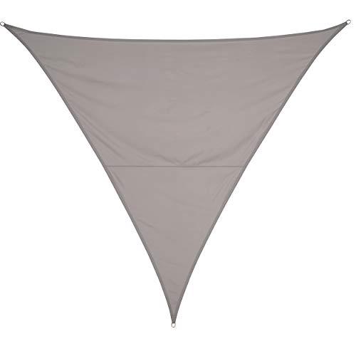 OBI Sonnensegel Neptun Beach Dreieck 360 cm x 360 cm x 360 cm Silbergrau   Mit Gummiexpander und praktischer Aufbewahrungstasche