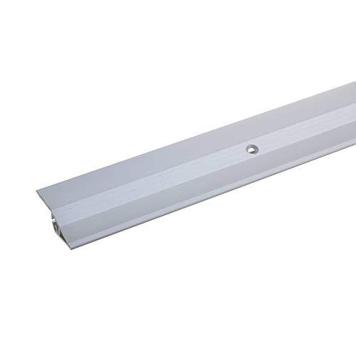 acerto 37145 Alu Höhenausgleichsprofil, 90cm, silber * 5-9mm * Inkl. Schrauben * Übergangsprofil für Laminat, Parkett & Teppich | Übergangsleiste, Bodenprofil für Fußböden | Übergangsschiene