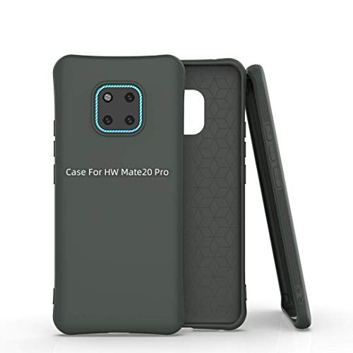 Cellshell Soft Silicone Matte Pudding Shockproof TPU Jelly Case for Huawei Mate 20 Pro - Midnight Green