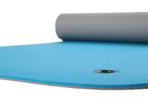 Vida GmbH Gymnastikmatte mit Ösen türkis/grau zweifarbig 65 x 180 cm