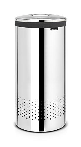 Brabantia 105104 Wäschebox 35 L Edelstahldeckel, brilliant steel
