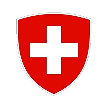 Swiss Coat of Arms Sticker Die Cut Decal Self Adhesive Vinyl Made in USA