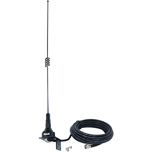 TRAM(R) 10281-muhf 140mhz/430mhz Dual-Band Pre-Tuned Trunk/Hole Mount Antenna, Black
