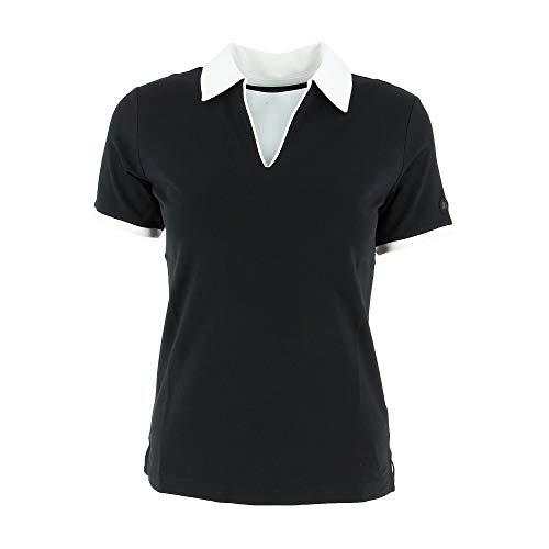Bogner Sport Ladies Lumi2 Schwarz, Damen Polo Shirt, Größe 38 - Farbe Black