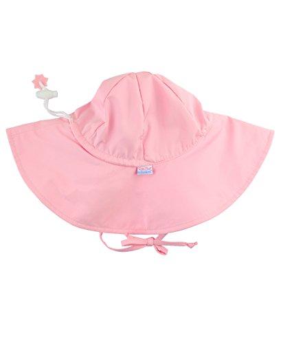 RuffleButts Baby/Toddler Girls Pink Adjustable Sun Hat w/UPF 50+...