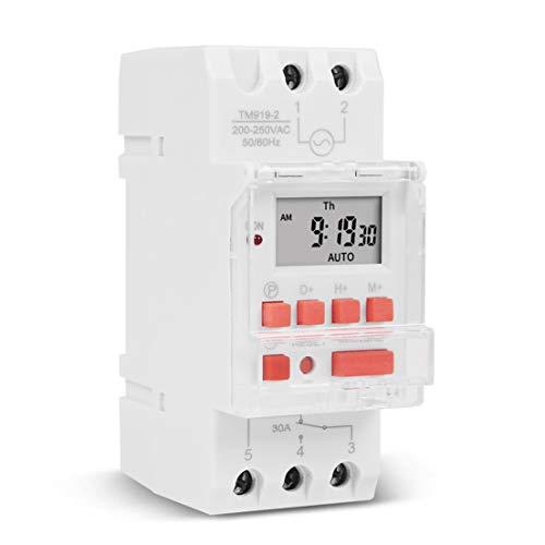 BiaBai TM919B Interruptor de tiempo digital programable semanal electrónico Control de temporizador de relé AC 110V 220V 24V 12V 5V 16A Montaje en carril Din