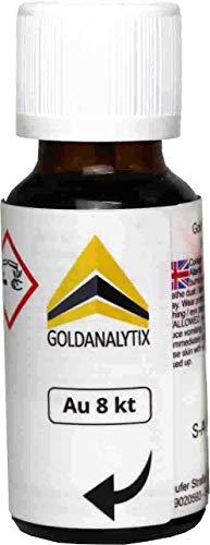 Prüfsäure Gold (8 Karat, 333-20 ml) - Probiersäure, Gold-Test, Gold-Tester