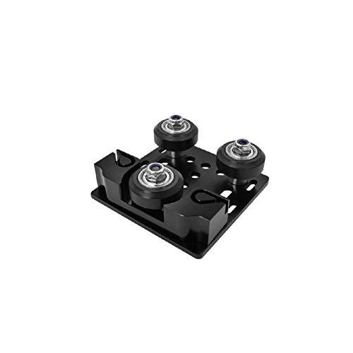Leluo Lruirui-Belt Timing Fibbia a Piastra in Alluminio ascensione Axis, Profilo in Alluminio con Fibbia a Cinghia di temporizzazione per Stampante 3D Cinghia di distribuzione Premium (Color : Nero)