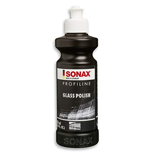 SONAX PROFILINE GlassPolish (250 ml) zum Entfernen von leichten Verkratzungen, Vermattungen und Verätzungen aus Echtglas | Art-Nr. 02731410