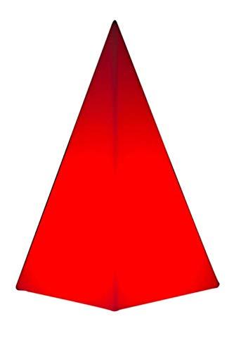 Luminatos Luxor, LED Leucht-Pyramide 16 Farben mit Fernbedienung wasserdicht
