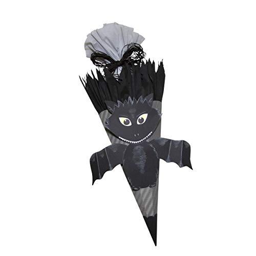 Prell Schultüte Bastelset Fledermaus - Zuckertüte - aus 3D Wellpappe, 68cm hoch