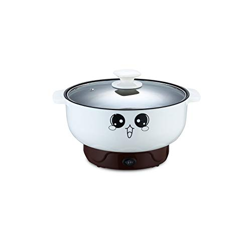 EODNSOFN Multifunction Electric Skillet Stainless Steel Hot Pot Noodles Rice Cooker Steamed Egg Soup Pot Heating Pan Cooking Rice