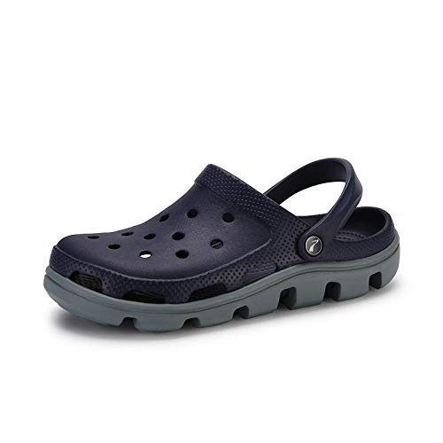 comodi sandali da esterno Zoccolo,Scarpe da giardino da donna/donna antiscivolo Sliders,zoccoli da lavoro da uomo,sandali unisex facili da pulire,coppie che camminano/vacanze/vacanze pantofole-Marin