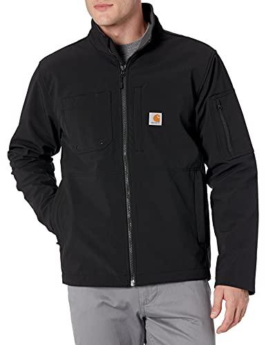 Carhartt Men's Big & Tall Rough Cut Jacket, Black, X-Large