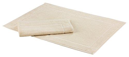 Floringo Sprint Lot de 2 tapis de bain 50 x 70 cm 95 ° Qualité hôtelière, Coton mélangé, sable, 50x70