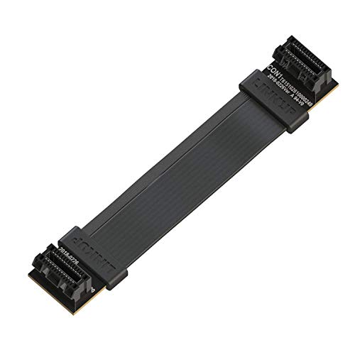 LINKUP - Flexible SLI Bridge GPU Cable Extreme High-Speed Technology Premium Shielding 85 ohm Design for NVIDIA GPUs Graphic Cards┃NOT Compatible with AMD or RTX 2000/3000 GPU - [8cm]