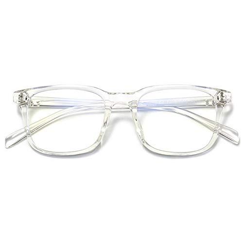VEVESMUNDO Anti Blaulicht Brillen ohne sehstärke Computerbrille Blaulichtfilter Brillengestelle Brillenfassung Damen Herren Große Rechteckig Retro TR90 Fakebrillen Streberbrille Nerdbrille mit Etui