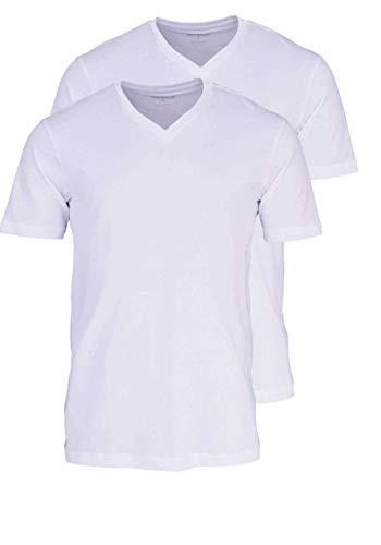Marvelis T-Shirt weiß V-Ausschnitt 2817/00/00, L - 2er Pack