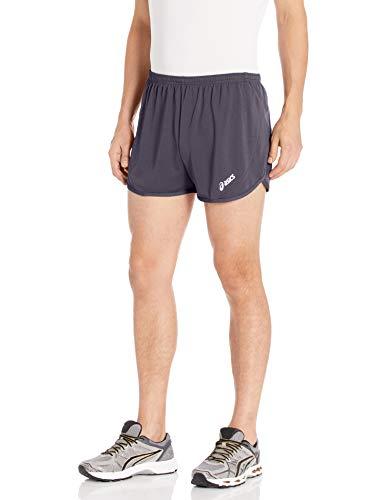 ASICS Men's Rival II 1/2 Split Short, Steel Grey, Medium