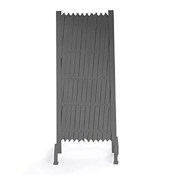 IDMarket - Barrière Extensible Grise Treillis PVC 35 à 250 cm