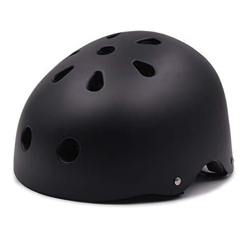 FENGHU Bicicleta De Montaña Redonda Casco Negro Niños/Adultos Accesorios Deportivos para Hombres Y Mujeres Casco De Bicicleta Cabeza Ajustable Casco De Bicicleta De Montaña Circundante