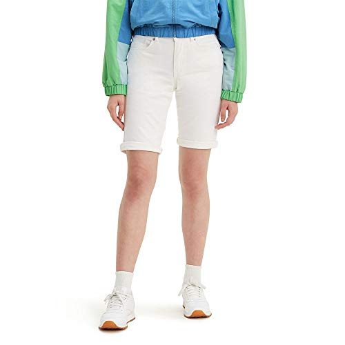 Levi's Women's Bermuda Shorts, Simply White, 27 (US 4)