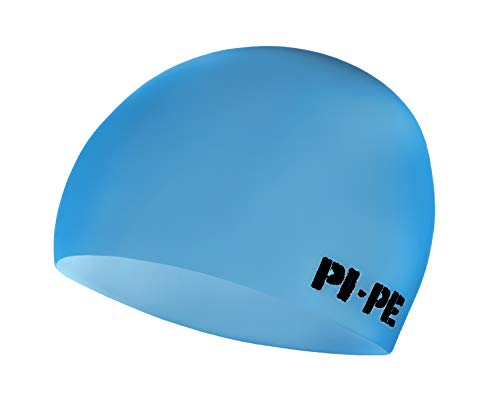 PI-PE - Cuffia da Piscina, per Adulto, Modello Classico, Blu (Blu), Taglia Unica
