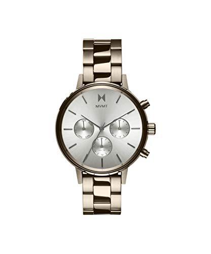 MVMT Damen Analog Quarz Uhr mit Goldfarbener Edelstahl Armband 28000069-D