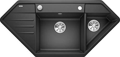 Blanco 524990 Lexa 9 E Küchenspüle, anthrazit, 90 x 90 cm Unterschrank