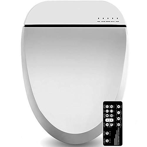 FOHEEL Funda para asiento de inodoro inteligente electrónica, color blanco, para asiento de inodoro limpio y seco, para calentar el inodoro