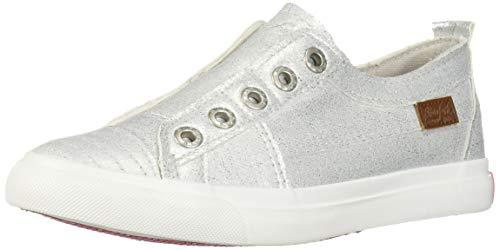 Blowfish Kids Girls' Play-k Sneaker, Silver Space Suit, 4 Medium US Big Kid