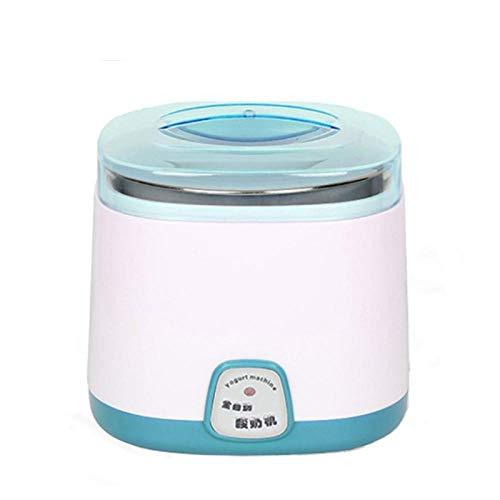 XTBB Elektrischer Joghurthersteller Natto Fermentationsmaschine DIY Edelstahl-Auskleidungsbehälter Vollautomatisches Küchengerät Blau