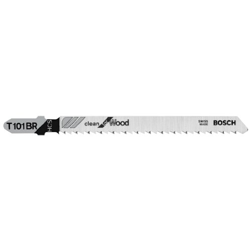 BOSCH T101BR100 100-Piece 4 In. 10 TPI Reverse Pitch Clean for Wood T-Shank Jig Saw Blades