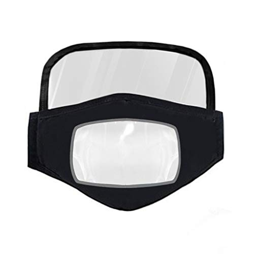 Buy Bargain Face Shield Close Face Protective Cloth Shield with Clear Window Visible Expression for ...