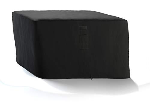HBCOLLECTION® Housse Respirante pour Table Salon de Jardin carré 135x135cm H72cm Noir