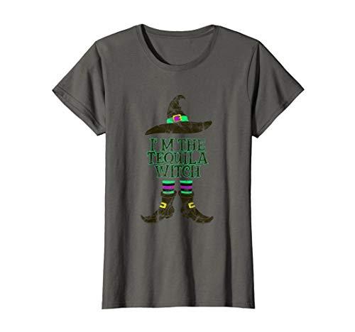 Damen Tequila Witch - Halloween Karneval Fasching Hexen Kostüm T-Shirt