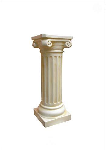 Antikes Wohndesign Griechische Blumensäule Blumenständer Säule Standsäule Creme Beige H: 63cm
