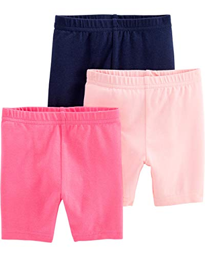 Simple Joys by Carter's Girls' 3-Pack Bike Shorts, Pink, Navy, 18 Months