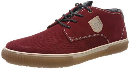 bugatti Herren 322603391400 Hohe Sneaker, Rot, 42 EU