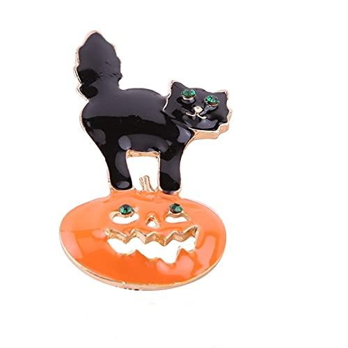 Nsdfrtm Broche unisex con diseo de gato y elegante y misterioso, accesorio de regalo para fiestas, accesorios de disfraz (color : estilo 18, tamao: 1 unidad)