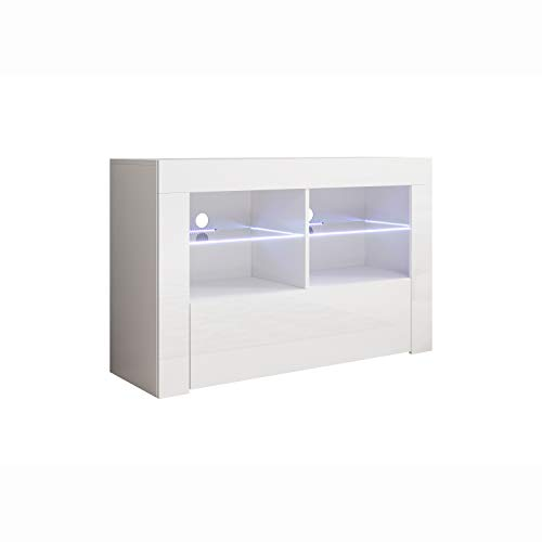 Mueble TV Modelo Lilian (100x65cm) Color Blanco con LED RGB