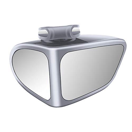 2 in 1 Toter Winkel Spiegel,MoreChoice 360 Grad Drehung Einstellbarer Konvexer Weitwinkel Rückspiegel Universal Auto Zusatzspiegel Vorder/Hinter Räder Beobachtung für PKW SUV,Silber Kopilot