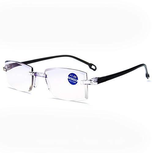 AEC ReadSafe NEO Smart Rimless Reading Eyeglasses With AR BlueBlock Lens (+1.50, Black)