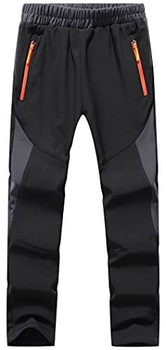 DAFENP Niño Montaña Pantalones al Aire Libre Impermeables Pantalones de Nieve...