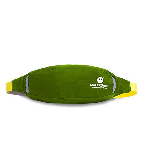 LNLZle Sport, la Meute, Bras de Sac, Hommes et Outdoor Taille Pack, organe Mobile Taille Sac antivol,Green,6 cm