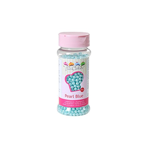 Perlas de Azúcar Azúl Nacarado 80 gr. Funcakes